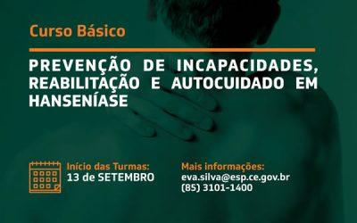 Curso Básico de Prevenção de Incapacidades, Reabilitação e Autocuidado em Hanseníase